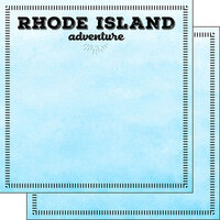 Scrapbook Customs - Postage Adventure Collection - 12 x 12 Double Sided Paper - Rhode Island