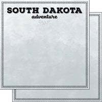 Scrapbook Customs - Postage Adventure Collection - 12 x 12 Double Sided Paper - South Dakota