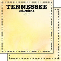 Scrapbook Customs - Postage Adventure Collection - 12 x 12 Double Sided Paper - Tennessee