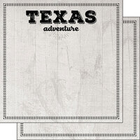 Scrapbook Customs - Postage Adventure Collection - 12 x 12 Double Sided Paper - Texas