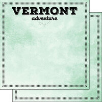 Scrapbook Customs - Postage Adventure Collection - 12 x 12 Double Sided Paper - Vermont