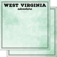 Scrapbook Customs - Postage Adventure Collection - 12 x 12 Double Sided Paper - West Virginia