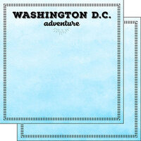 Scrapbook Customs - Postage Adventure Collection - 12 x 12 Double Sided Paper - Washington DC