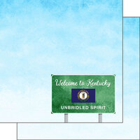 Scrapbook Customs - Welcome Road Sign Collection - 12 x 12 Double Sided Paper - Kentucky