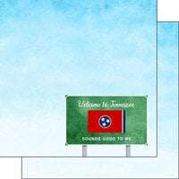 Scrapbook Customs - Welcome Road Sign Collection - 12 x 12 Double Sided Paper - Tennessee
