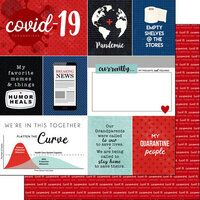 Scrapbook Customs - Covid-19 Collection - 12 x 12 Double Sided Paper - Journal