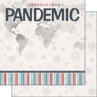 Scrapbook Customs - Covid-19 Collection - 12 x 12 Double Sided Paper - Pandemic Title