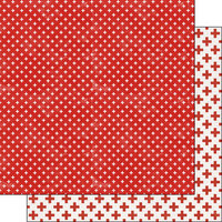 Scrapbook Customs - Covid-19 Collection - 12 x 12 Double Sided Paper - Red Cross