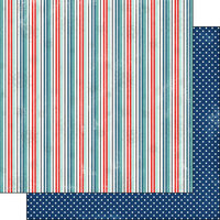 Scrapbook Customs - Covid-19 Collection - 12 x 12 Double Sided Paper - Stripe Polka Dot