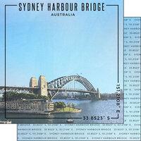 Scrapbook Customs - World Site Coordinates Collection - 12 x 12 Double Sided Paper - Australia - Sydney Harbour Bridge