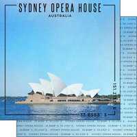 Scrapbook Customs - World Site Coordinates Collection - 12 x 12 Double Sided Paper - Australia - Sydney Opera House