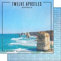 Scrapbook Customs - World Site Coordinates Collection - 12 x 12 Double Sided Paper - Australia - Twelve Apostles