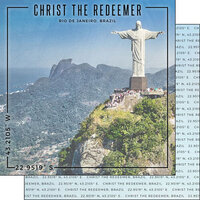 Scrapbook Customs - World Site Coordinates Collection - 12 x 12 Double Sided Paper - Brazil - Christ the Redeemer