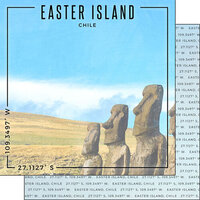 Scrapbook Customs - World Site Coordinates Collection - 12 x 12 Double Sided Paper - Chile - Easter Island