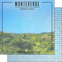 Scrapbook Customs - World Site Coordinates Collection - 12 x 12 Double Sided Paper - Costa Rica - Monteverde