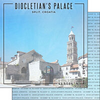 Scrapbook Customs - World Site Coordinates Collection - 12 x 12 Double Sided Paper - Croatia - Diocletian's Palace