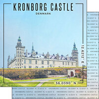 Scrapbook Customs - World Site Coordinates Collection - 12 x 12 Double Sided Paper - Denmark - Kronborg Castle