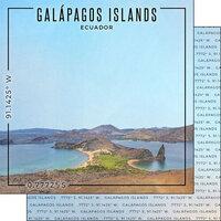Scrapbook Customs - World Site Coordinates Collection - 12 x 12 Double Sided Paper - Ecuador - Galapagos Islands