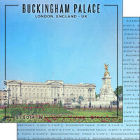 Scrapbook Customs - World Site Coordinates Collection - 12 x 12 Double Sided Paper - England - Buckingham Palace