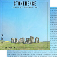 Scrapbook Customs - World Site Coordinates Collection - 12 x 12 Double Sided Paper - England - Stonehenge