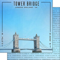 Scrapbook Customs - World Site Coordinates Collection - 12 x 12 Double Sided Paper - England - Tower Bridge