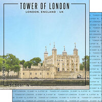 Scrapbook Customs - World Site Coordinates Collection - 12 x 12 Double Sided Paper - England - Tower of London