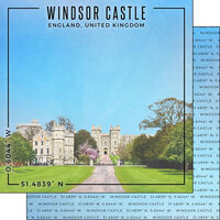 Scrapbook Customs - World Site Coordinates Collection - 12 x 12 Double Sided Paper - England - Windsor Castle