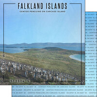 Scrapbook Customs - World Site Coordinates Collection - 12 x 12 Double Sided Paper - Falkland Islands