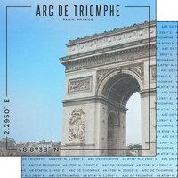 Scrapbook Customs - World Site Coordinates Collection - 12 x 12 Double Sided Paper - France - Arc de Triomphe