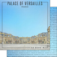Scrapbook Customs - World Site Coordinates Collection - 12 x 12 Double Sided Paper - France - Palace of Versailles