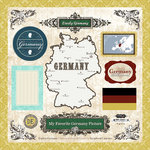 Scrapbook Customs - World Collection - 12 x 12 Laser Cut Chipboard Pieces - Germany