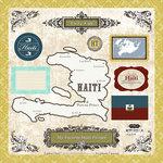Scrapbook Customs - World Collection - 12 x 12 Laser Cut Chipboard Pieces - Haiti