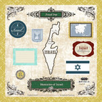 Scrapbook Customs - World Collection - 12 x 12 Laser Cut Chipboard Pieces - Israel