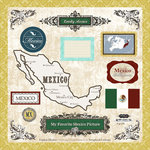Scrapbook Customs - World Collection - 12 x 12 Laser Cut Chipboard Pieces - Mexico