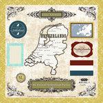 Scrapbook Customs - World Collection - 12 x 12 Laser Cut Chipboard Pieces - Netherlands