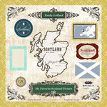Scrapbook Customs - World Collection - 12 x 12 Laser Cut Chipboard Pieces - Scotland