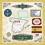 Scrapbook Customs - World Collection - 12 x 12 Laser Cut Chipboard Pieces - Spain