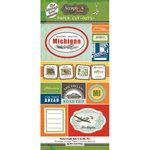 Scrapbook Customs - Vintage Label Collection - Vintage Paper Cut Outs - Michigan