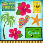Scrapbook Customs - 12 x 12 Laser Cut Chipboard Pieces - Paradise