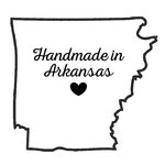 Scrapbook Customs - State Sightseeing Collection - Rubber Stamp - Handmade In - Arkansas