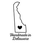 Scrapbook Customs - State Sightseeing Collection - Rubber Stamp - Handmade In - Delaware