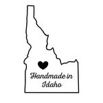 Scrapbook Customs - State Sightseeing Collection - Rubber Stamp - Handmade In - Idaho