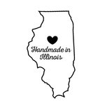 Scrapbook Customs - State Sightseeing Collection - Rubber Stamp - Handmade In - Illinois