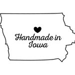 Scrapbook Customs - State Sightseeing Collection - Rubber Stamp - Handmade In - Iowa