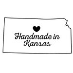Scrapbook Customs - State Sightseeing Collection - Rubber Stamp - Handmade In - Kansas