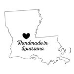 Scrapbook Customs - State Sightseeing Collection - Rubber Stamp - Handmade In - Louisiana