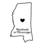 Scrapbook Customs - State Sightseeing Collection - Rubber Stamp - Handmade In - Mississippi