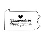 Scrapbook Customs - State Sightseeing Collection - Rubber Stamp - Handmade In - Pennsylvania