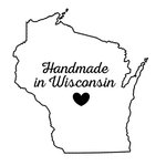 Scrapbook Customs - State Sightseeing Collection - Rubber Stamp - Handmade In - Wisconsin