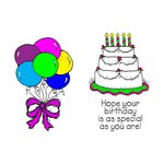Scrapbook Customs - Rubber Stamp - Special Birthday Set